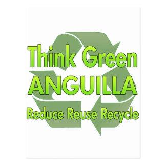 Piense Anguila verde Postal
