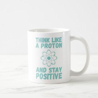 Piense como Proton Taza De Café