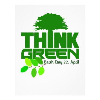 Piense el aviador verde folleto 21,6 x 28 cm