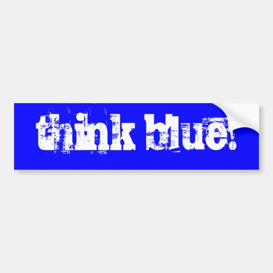 ¡piense el azul! pegatina para coche