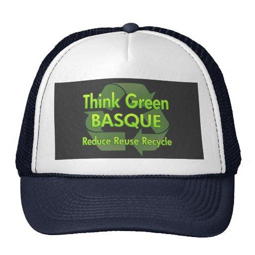 Piense el vasco verde gorros
