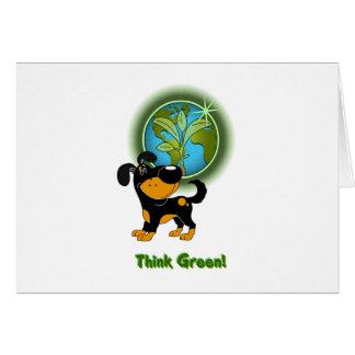 ¡Piense el verde! (Bubba) Tarjeta De Felicitación