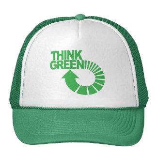 piense el verde gorro de camionero