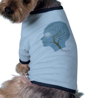 Piense el verde III Camiseta Con Mangas Para Perro