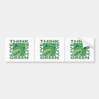 Piense el verde pegatina para coche