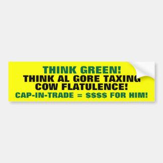 ¡Piense el verde! ¡Piense a GORE que grava Pegatina Para Coche