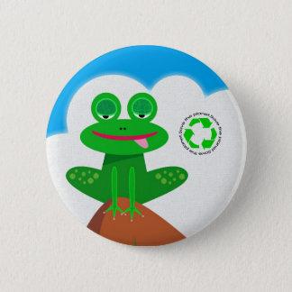 Piense el verde: Reciclaje del botón de la