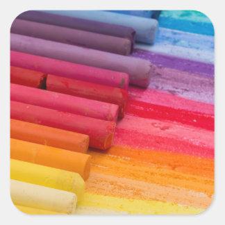 piense en color pegatina cuadrada