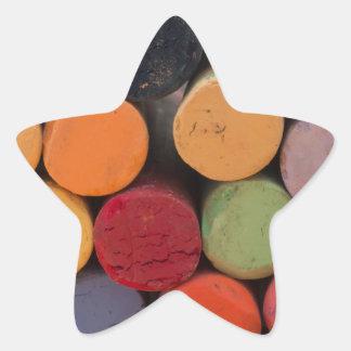 piense en color pegatina en forma de estrella