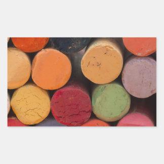 piense en color pegatina rectangular