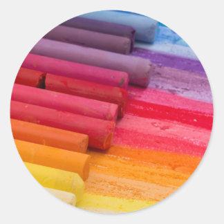 piense en color pegatina redonda