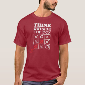 Piense fuera de la caja camiseta