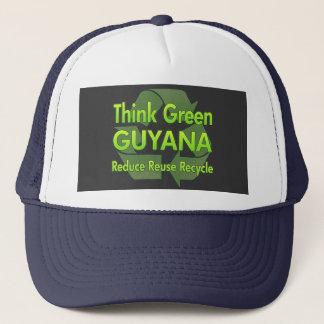 Piense Guyana verde Gorra De Camionero
