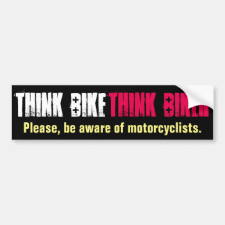 Piense la bici educada pegatina para coche