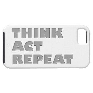 Piense la repetición del acto funda para iPhone SE/5/5s