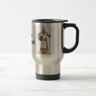 Piense medieval taza de viaje