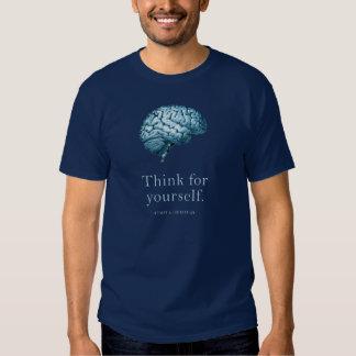 Piense para sí mismo hacen una camiseta libertaria