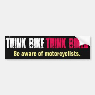 Piense que la bici sea directa enterado pegatina para coche