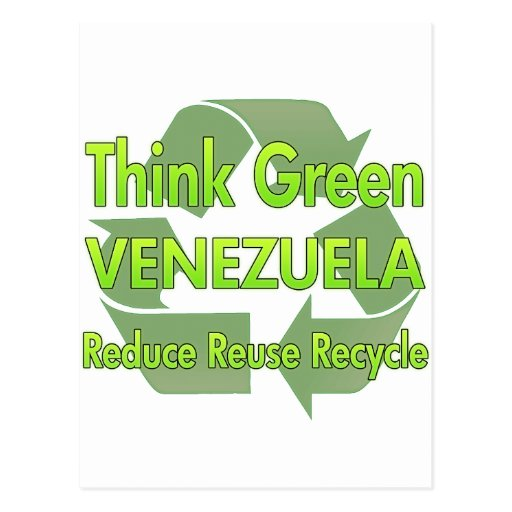 Piense Venezuela verde Postal