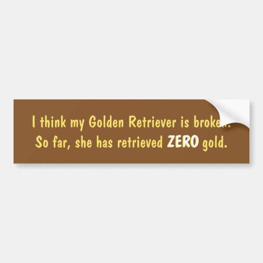 Pienso que mi golden retriever es pegatina