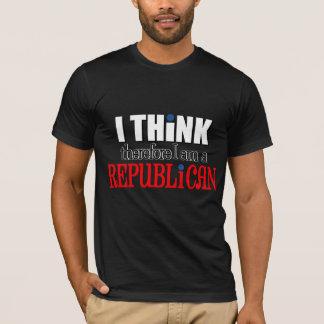 Pienso que por lo tanto soy un republicano camiseta