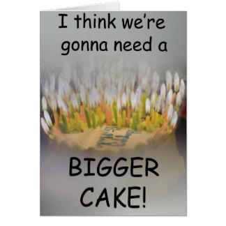 ¡Pienso que vamos a necesitar una torta de cumplea Tarjeta