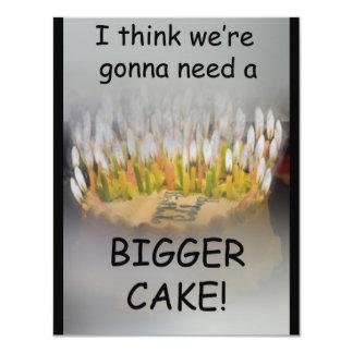 ¡Pienso que vamos a necesitar una torta de Invitación 10,8 X 13,9 Cm