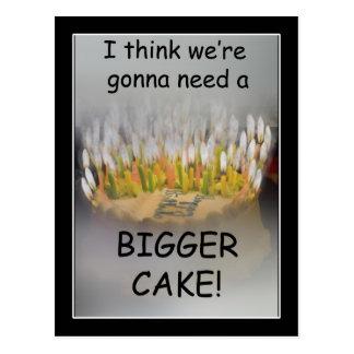 ¡Pienso que vamos a necesitar una torta de Postal