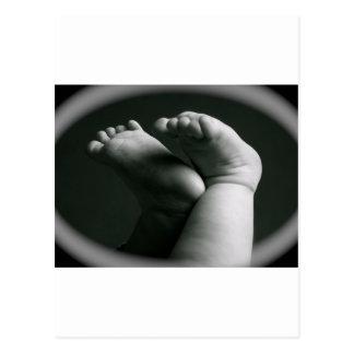 pies recién nacidos tarjeta postal