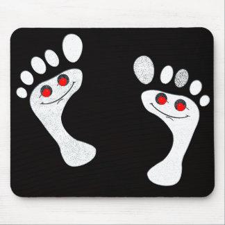 pies sonrientes divertido creativo tapetes de raton