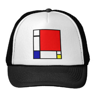 Piet Mondrian - arte neoplástico Gorras De Camionero