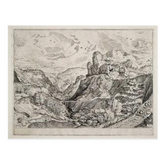 Pieter Bruegel el más viejo paisaje alpino Tarjeta Postal