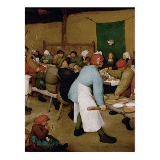 Pieter Bruegel la anciano - boda campesino Postal