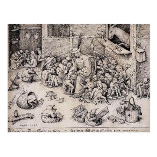 Pieter Bruegel la anciano en la escuela Postales