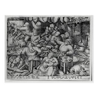 Pieter Bruegel la anciano la cocina gorda Tarjetas Postales