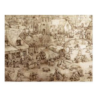 Pieter Bruegel la anciano la feria en Hoboken Postal
