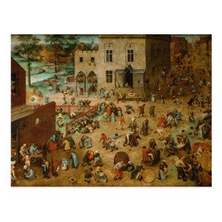 Pieter Bruegel la anciano - los juegos de los niño Postal