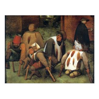 Pieter Bruegel la anciano los mendigos Tarjeta Postal