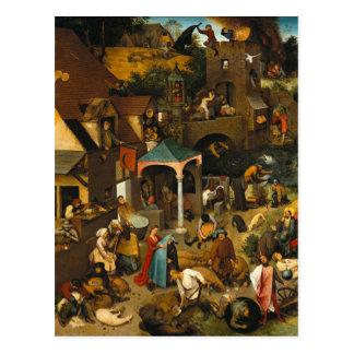Pieter Bruegel la anciano - los proverbios Postal