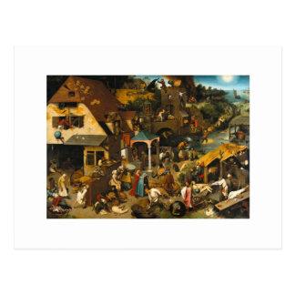 Pieter Bruegel la anciano - proverbios de Netherla Postal