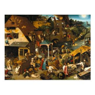 Pieter Bruegel la anciano - proverbios de Netherla Postales