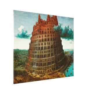 PIETER BRUEGEL - La pequeña torre de Babel 1563 Lienzo