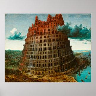 PIETER BRUEGEL - La pequeña torre de Babel 1563 Póster