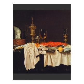 Pieter Claesz - todavía vida con una langosta Postal