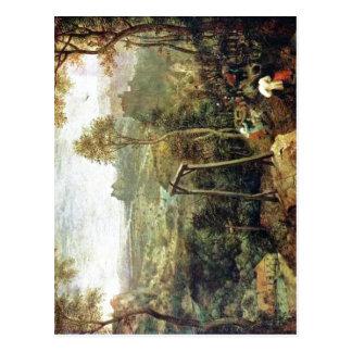 Pieter sumario Bruegel la anciano: La urraca en el Postal