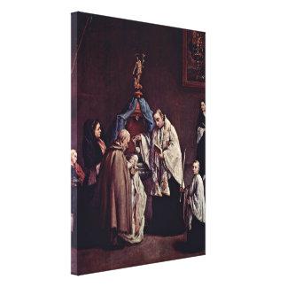 Pietro Longhi - bautismo Impresión En Lona