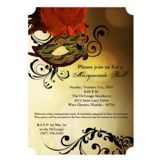 Pieza anaranjada de Halloween del traje de la Invitación 12,7 X 17,8 Cm
