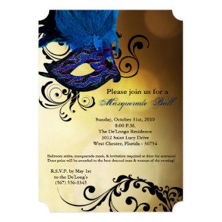 Pieza azul de Halloween del traje de la máscara de Invitación 12,7 X 17,8 Cm