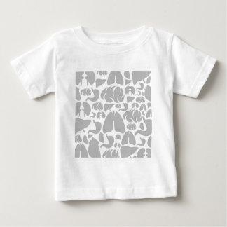 Pieza del fondo de body3 camiseta de bebé