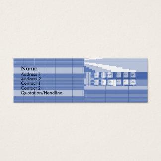 Pieza del teclado - flaca tarjeta de visita pequeña